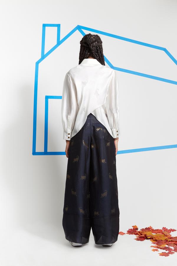 Steven Tai Devoré Criss Cross Shirt