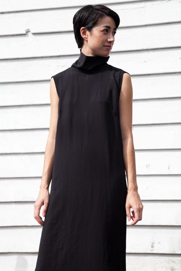 Jesse Kamm Stack Dress | black