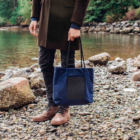 AW by Andrea Wong ON THE GO POCKET TOTE   INDIGO