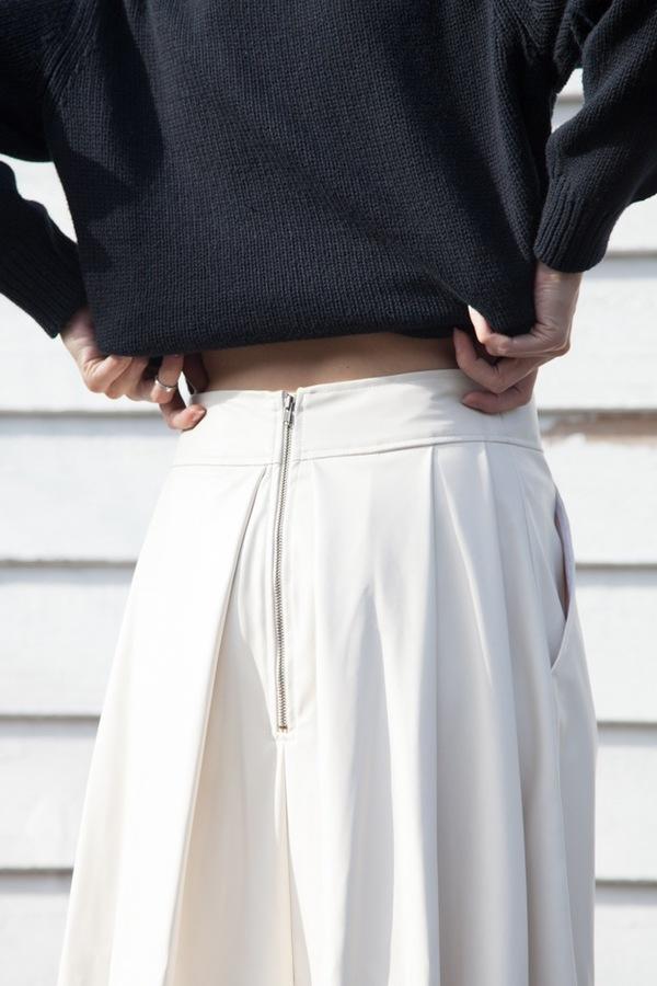 Rachel Comey Chatham Skirt | ivory leatherette