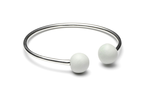 Louise Kragh Jewelry Double Porcelain Pearl Cuff