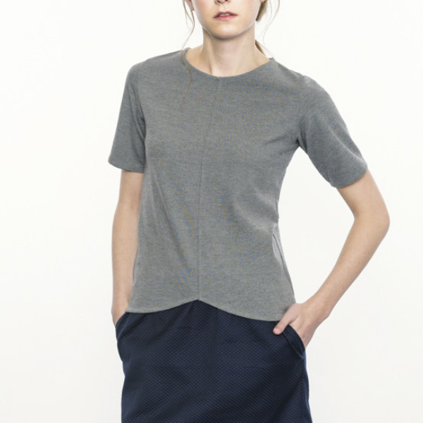Josiane Perron Grey Top