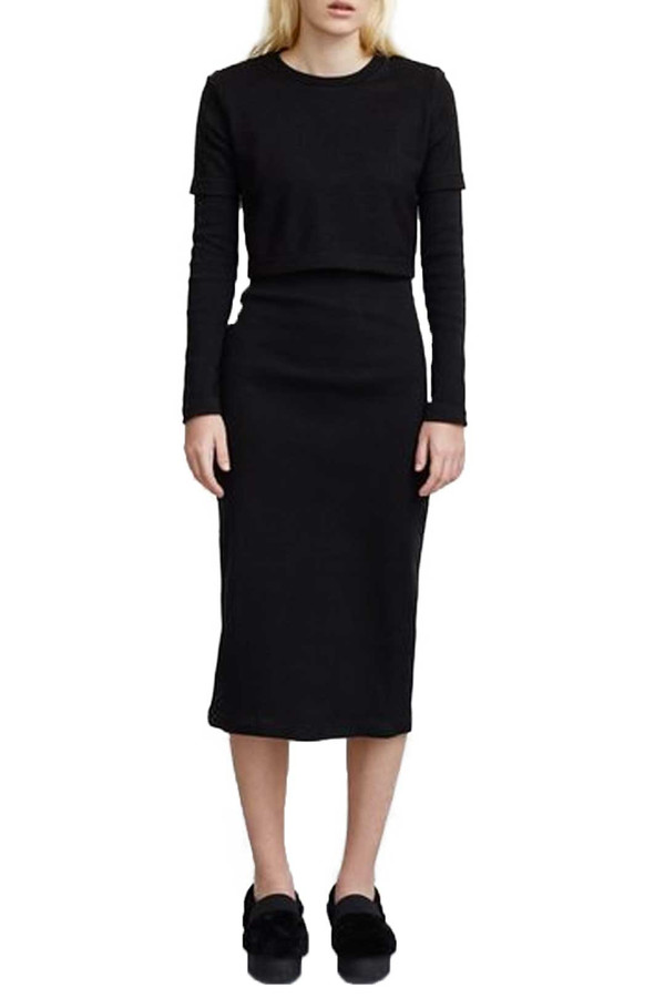 Opening Ceremony Dim Thermal Long Sleeve Dress