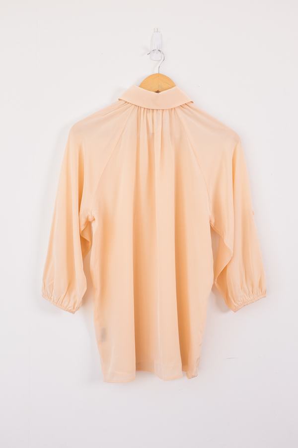 Tucker Long Collared Blouse