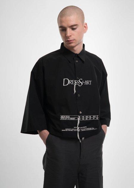 "Doublet Black ""Dress Shirt"" Embroidery Shirt"