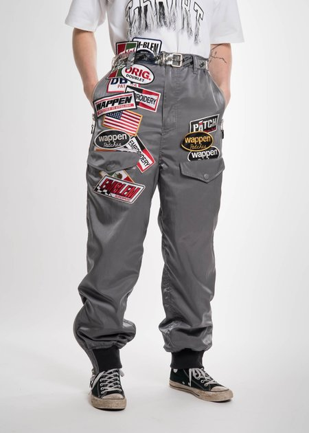 Doublet Grey Chaos Patches Nylon Pant