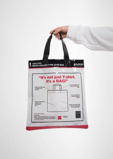 Doublet White Deadstock Tote Bag