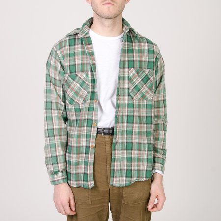Unis New York Vintage Cotton Flannel Shirt - Green