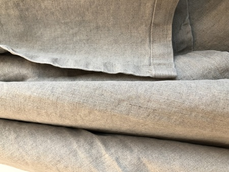 Jungmaven 100% Hemp Canvas Blanket - GRAY STONE