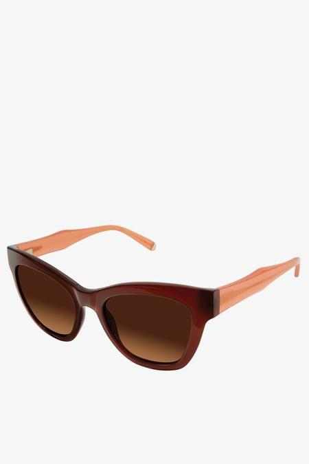 Kate Young for Tura Charlotte Sunglasses in Amber