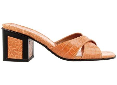 By Far Shoes Pablo in Orange Lizard