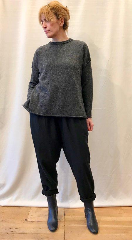 Micaela Greg Black Speckle Sweater
