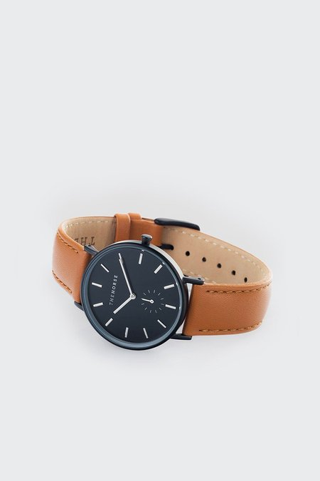 Unisex The Horse Classic Watch - Black/Tan Leather