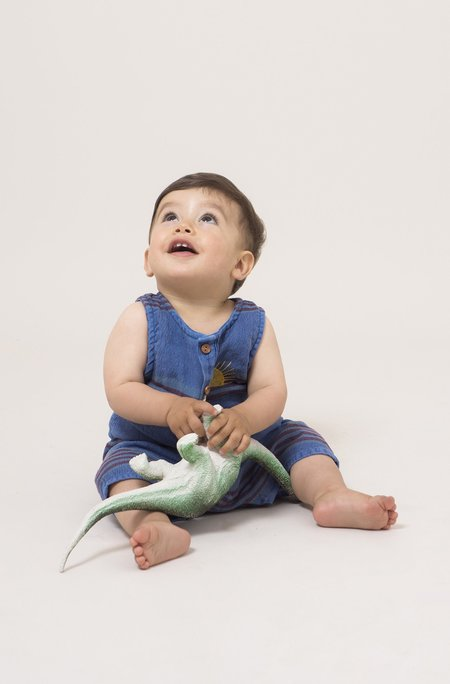 Kids Bobo Choses Stripes Linen Playsuit