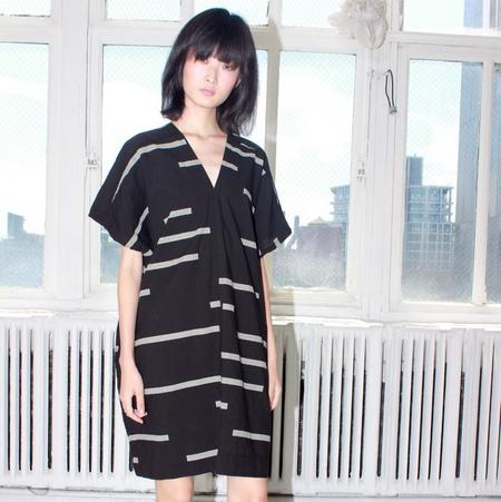 Uzi NYC V Dress - Black Broken