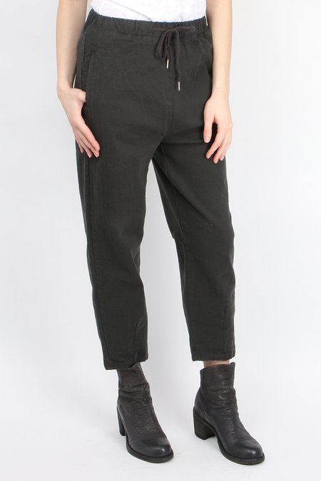 a.mannna Drawstring Pullup Pant - Green/Black