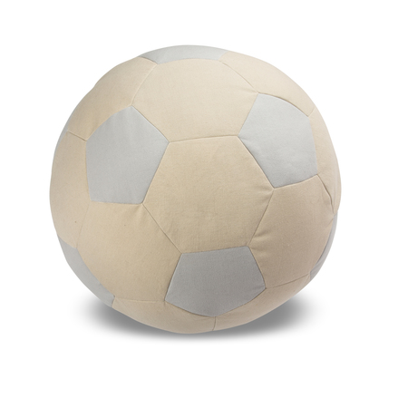Kids Lil' Pyar Soccer Ball Pouf - Silver