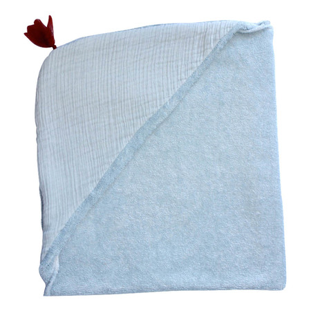 Kid's Annabel Kern Nomade Cotton Gauze Bathrobe - Light grey