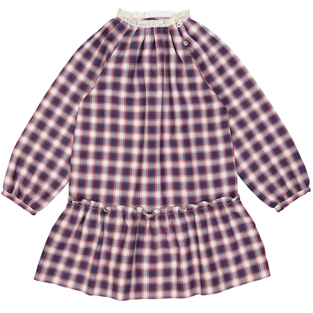 Kid's Petite Lucette Capucine Dress - Red/Blue Plaid