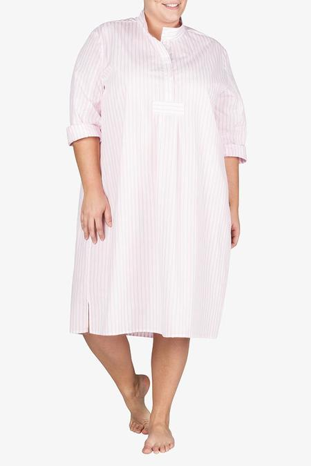 The Sleep Shirt Long Sleep Shirt Bubblegum Stripe PLUS