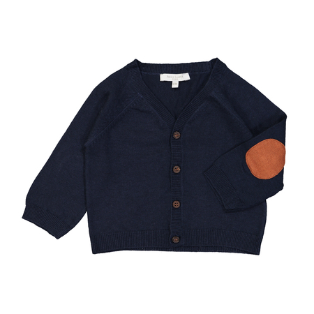 Kid's Petite Lucette Paulo Baby Cardigan - Midnight Blue