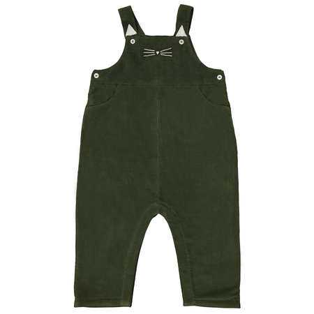 Kid's Petite Lucette Louison Overall - Moss Green Corduroy
