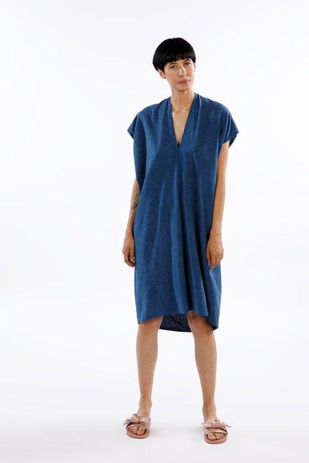 Miranda Bennett  Ed. VIII Everyday Dress - Silk Noil in Dark Indigo