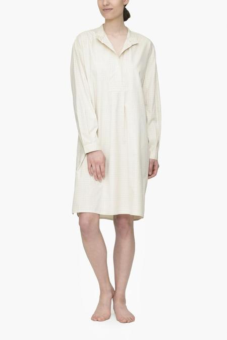 The Sleep Shirt Long Sleep Shirt Cream Rectangle Check