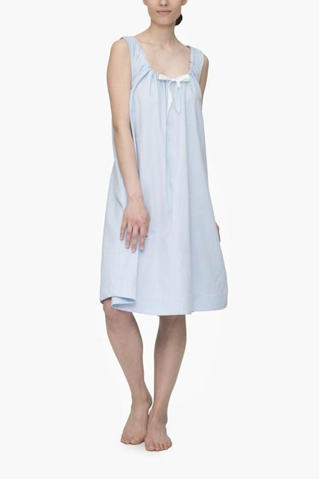 The Sleep Shirt Sleeveless Nightie Blue Royal Oxford