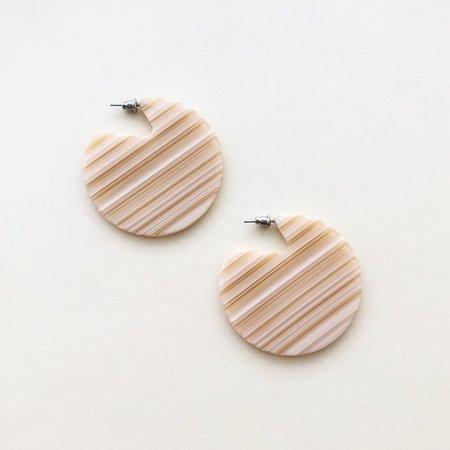 Machete Clare Earrings in Chameau Stripe