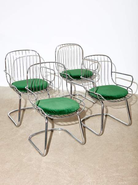 Coming Soon Chrome Chairs by Gastone Rinaldi