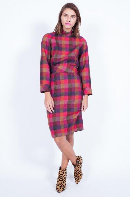 Yo Vintage! Plaid Wool Dress - Small/Medium