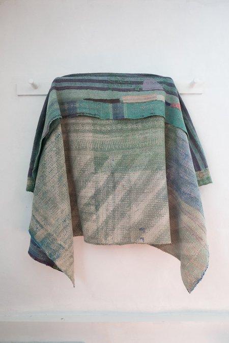 Karu Vintage Kantha Quilt in Multicolor Patchwork