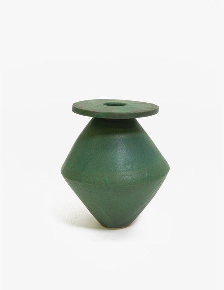 Bari Ziperstein Green Large Diamond Vase