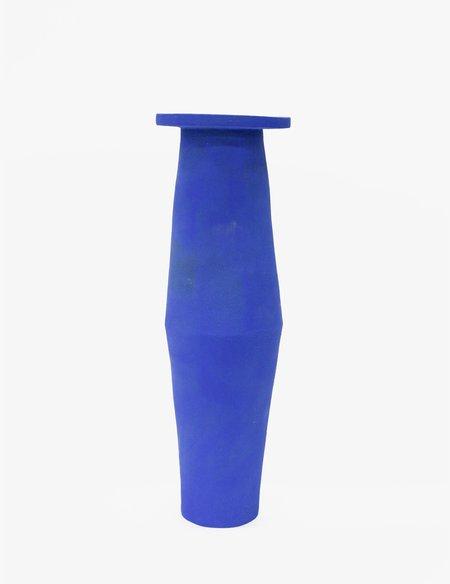Bari Ziperstein Klein Blue Tall Saucer Vase