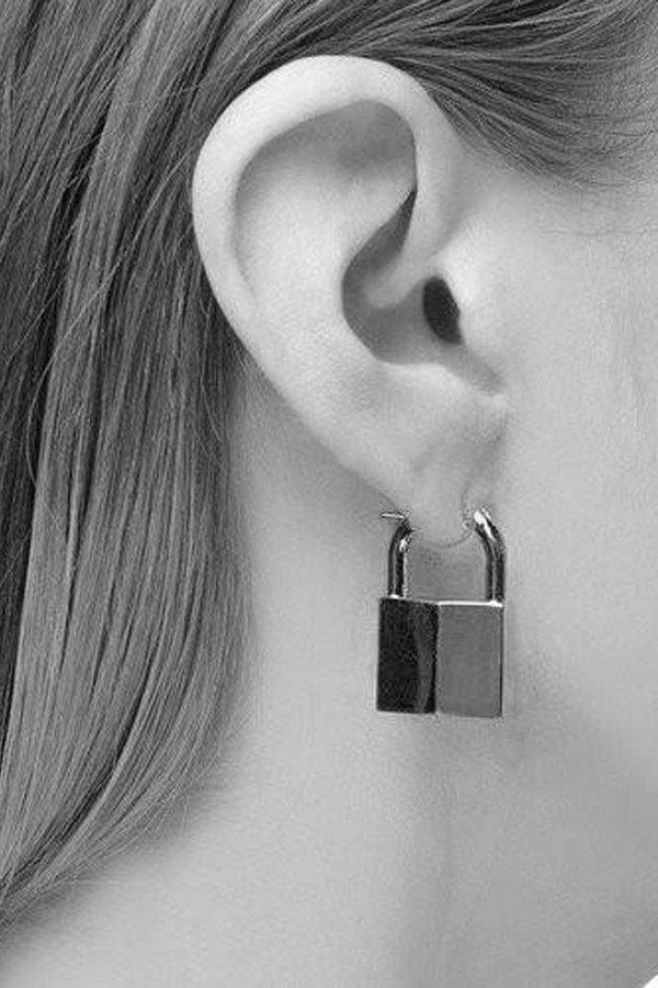Lauren Klassen Gold Vermeil Padlock Earring