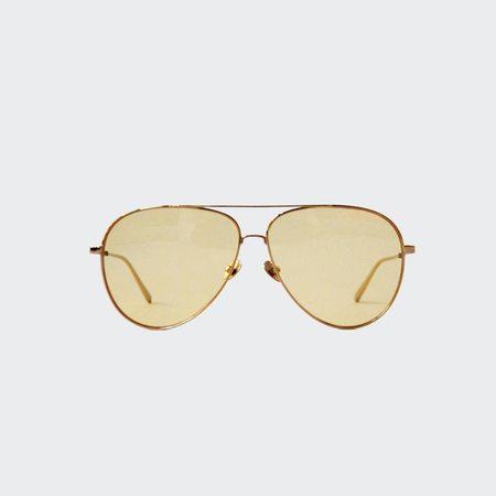 Reframe Utopia Sunglasses - Yellow Gold