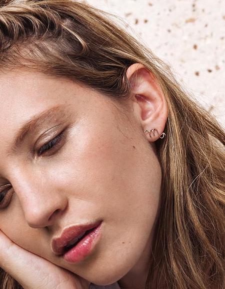 Aoko Su Zodiac Sign Earring - 14kt gold fill