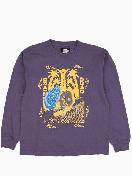 Brain Dead Scum L/S T-Shirt - Dull Plum