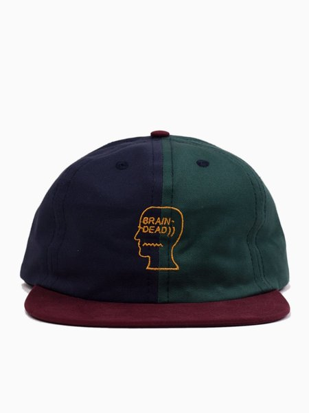 Brain Dead Split Colour Hat - Navy/Green