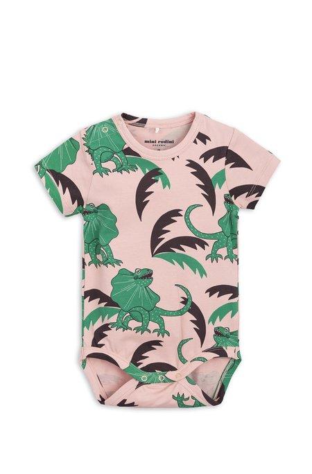 Kids Mini Rodini Draco Print Body - Pink