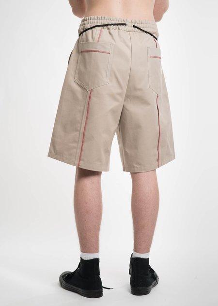 Komakino Beige Elasticated I/O Shorts