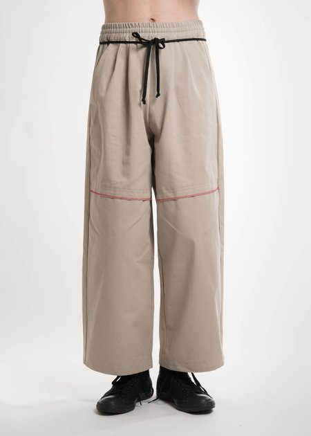 Komakino Beige Elasticated I/O Trousers