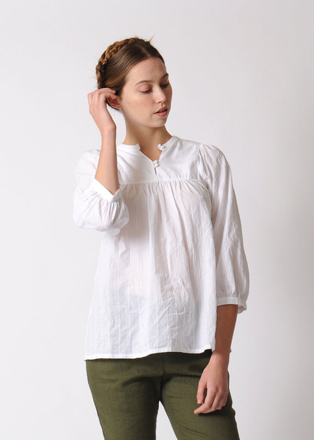 Conifer Gathered Blouse - White