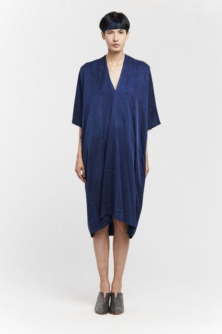Miranda Bennett Ed. VIII Muse Dress - Silk Charmeuse in Dark Indigo