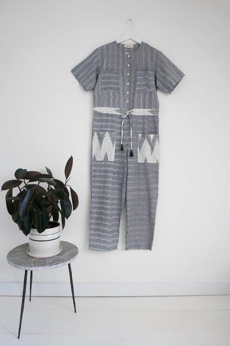 Karu Hand loomed Jumpsuit in Monochrome