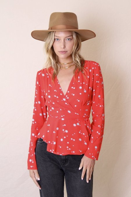 Rolla's Dancer Wrap Blouse Flame Galaxy