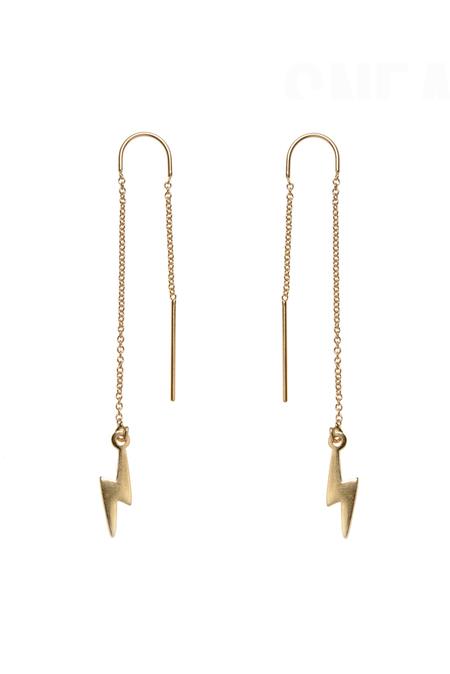Bing Bang NYC Lightning Bolt Threader Earrings