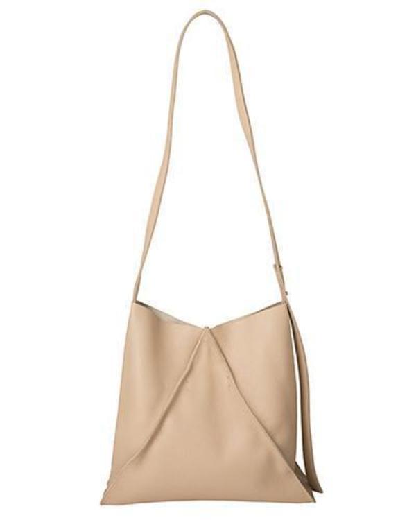 jasper shoulder bag in sand pebbled leather