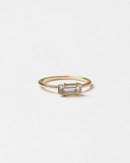 Bing Bang NYC Tiny Baguette Ring - Yellow Gold